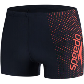 speedo Gala Logo Aquashorts Men Black/Hot Orange